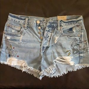 American Eagle vintage high rise shorts